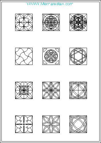 نقوش تزئینی هندسی اسلامی به صورت وکتور