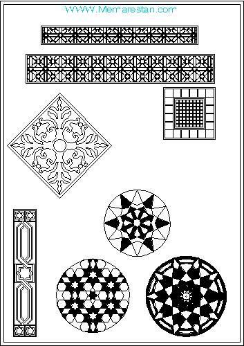 نمونه ترسیمات تزئینات اسلامی و تذهیب