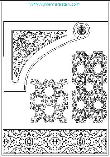 نقشه اتوکد ترسیم نقوش هندسی ایرانی و اسلامی