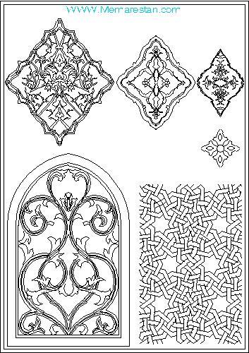 نقوش تزئینی اسلیمی و هندسی برای اتوکد (وکتور)