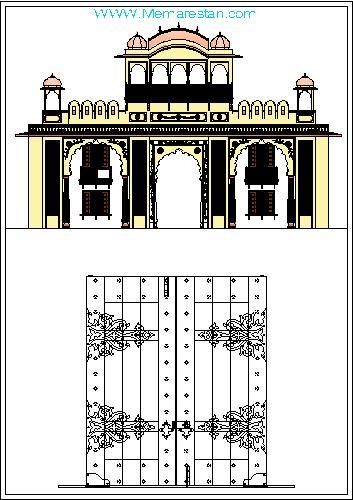 طرح های معماری اسلامی ایرانی در اتوکد