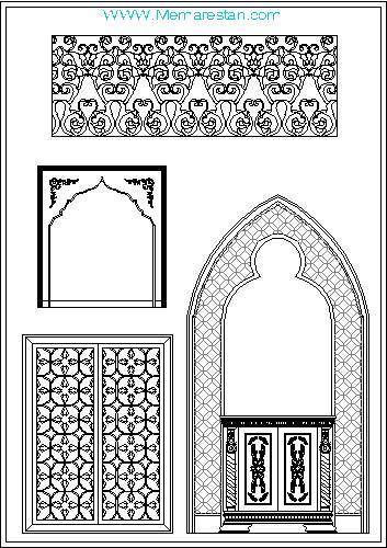 فایل اتوکد نمونه معماری اسلامی ایرانی