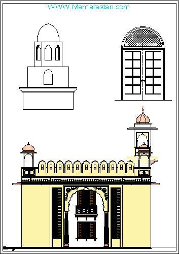 طراحی معماری اسلامی ایرانی در اتوکد