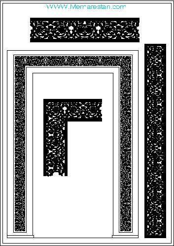 فایل اتوکد طراحی معماری اسلامی ایرانی