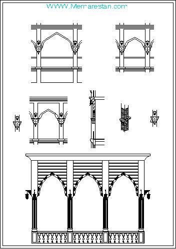 ترسیم قوس های معماری عربی - اسلامی در اتوکد