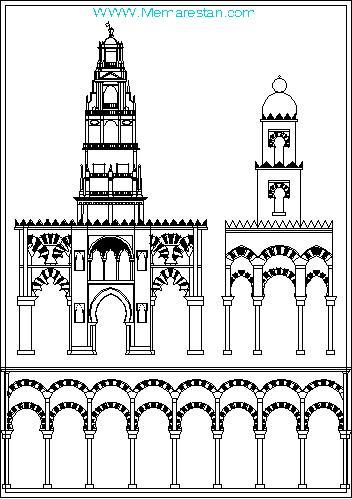 ترسیمات سبک معماری مراکشی در اتوکد