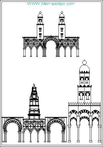ترسیمات سبک معماری عربی- مراکشی در اتوکد