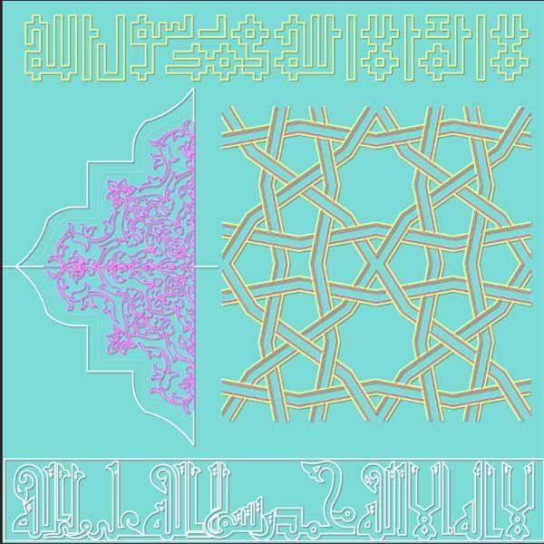 فایل کد تزئینات معماری اسلامی ایرانی و نقوش مذهبی