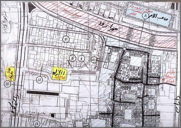 نقشه میدان صاحب الامر