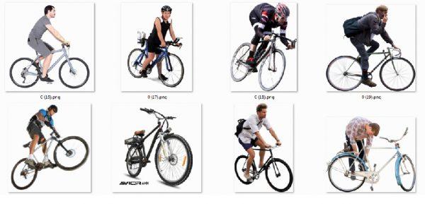فایل لایه باز دوچرخه سوار-دوچرخه-پی ان جی