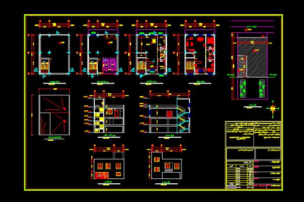 دانلود فایل نقشه اتوکدی سازه و معماری