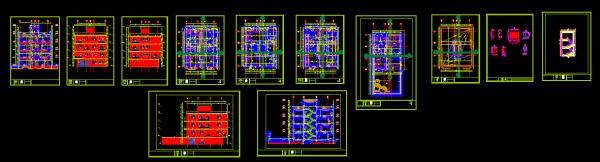 دانلود پروژه کامل طراحی فنی 3طبقه مسکونی 220متری