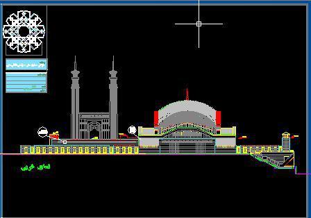 دانلود پروژه طراحی معماری سنتی مسجد