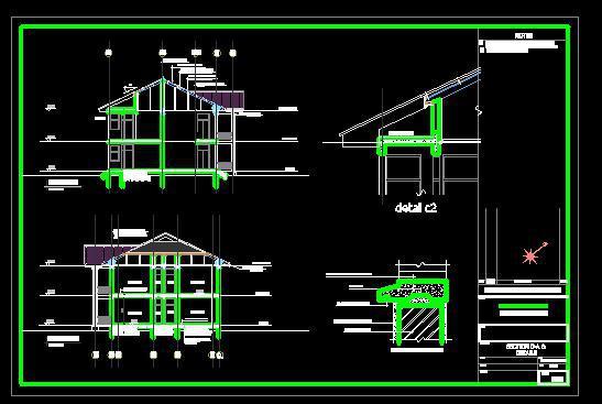 دانلود پروژه کامل اتوکدی خانه ویلایی همراه با رندر