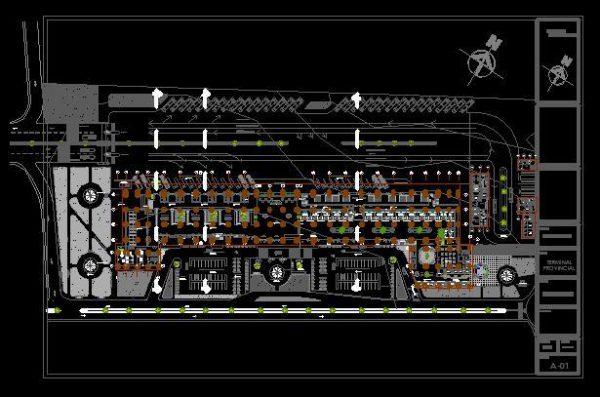 دانلود پروژه کامل ترمینال اتوبوسرانی با سازه ای خاص