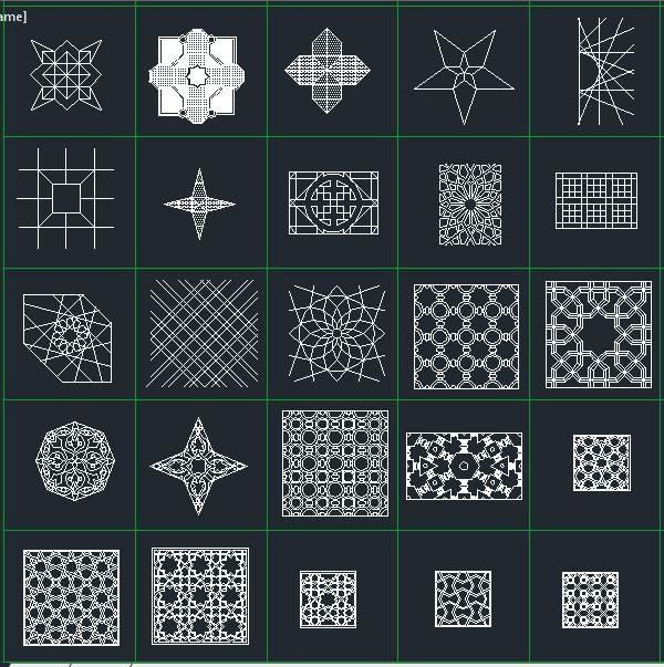 نقوش هندسی-معماری اسلامی-اتوکد