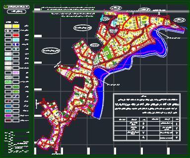 نقشه اتوکدی طرح هادی روستای تازه آباد مازندران
